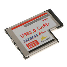 54mm Express Card to 2 Port USB 3.0 Adapter NEC D720202 for Laptop Computer