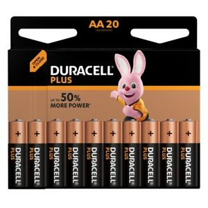 20 x MIGNON  AA LR6 UM3 MN1500 Alkali-Mangan Batterien DURACELL PLUS