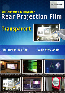 Transparent, Holographic Rear Projection Film: A4 sample sheet