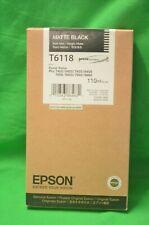 T6118 Matte Black Epson 7400 9400 7450 7800 7880 9450 9800 9880 Genuine 220ml