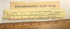 Vintage Pocket Slide rule Psychrometer with paper as shown