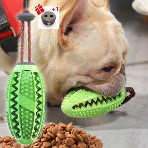 Dog Treat Ball Interactive Toothbrush Chew Toys Cleaning Food Dispenser Feeder