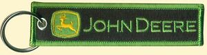 John Deere Embroidered Key Chain, Agriculture, Garden, Golf, construction