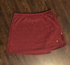 """Tilly""""s H.I.P Maroon Skirt with Tassels, Small"""