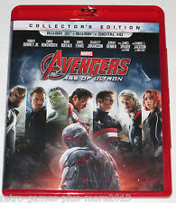 Avengers: Age of Ultron (Blu-ray 3D, 2015) 3D Disc & Case Only (Region A) NTSC