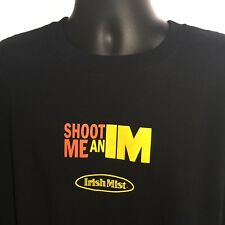 Irish Mist T-Shirt Shoot Me an IM Liqueur Mens XL Black