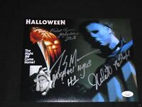 3X Michael Myers NICK CASTLE TONY MORAN JIM WINBURN Signed HALLOWEEN 8x10 JSA C