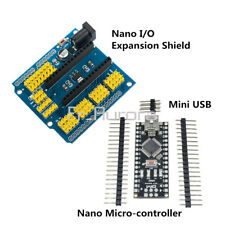 Arduino Mini USB Nano V3.0 4.0 ATmega328 5V +Nano I / O Expansion Sensor Shield