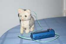 Vintage Antique Mohair Toy Mechanical Radio Controlled RC Cat Japan 1930s