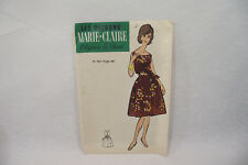 Ancien PATRON MARIE-CLAIRE 60's PETITE ROBE n°707 Taille 44 Elégance de Paris