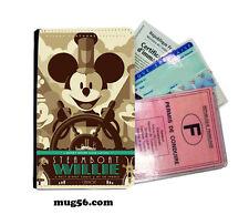 mickey mouse disney 01-011  étui pochette carte grise carte d'identité permis