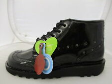 Kickers Black Kick Hi Rivet Leather Boots Ankle Lace Up  UK 6  EUR 39 REF 4282*