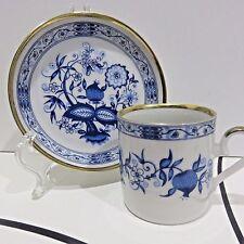 Danbury Mint's Demitasse Royal Franconia Bone China Teacup & Saucer Blue Onion