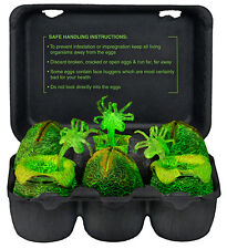 Alien Glow in the dark Xenomorph egg set in collectible carton - official