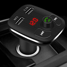 Transmisor Inalámbrico de Fm Radio Bluetooth para Coche Manos Libres MP3 2 USB