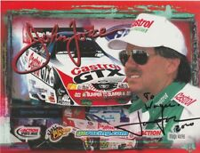 2000 John Force signed Action Performance Ford Mustang Funny Car NHRA postcard