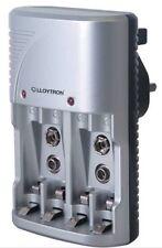 Lloytron Compacto-Plug-In cargador de batería para Pilas AA/AAA y PP3