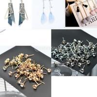 50Pc Copper Rhinestone Stud Earrings with Hole DIY Dangle Drop Earring Findings