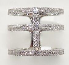 14k WHITE GOLD DIAMOND NEW FASHION WIDE PAVE BAND