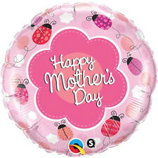 """MOTHER'S DAY PARTY SUPPLIES 18"""" LADYBUGS QUALATEX ROUND SHAPED FOIL BALLOON"""