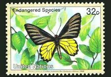 UN 1998 MNH, Endangered Butterflies, Golden Bird Wing