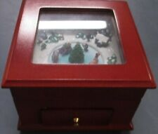 NEW Wood Music Box Mr Christmas Works Fine