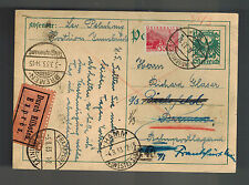 1933 Innsbruck Austria Postal Stationery Postcard Cover Bremen Germany Judaica