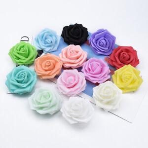 50Pcs Large 7cm Artificial Flowers Foam Fake Rose Wedding Party Home DIY Decor