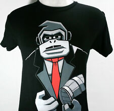 Jinx Don Kong Men T Shirt Donkey Black Gamer Video Game Suit Mustache Small New