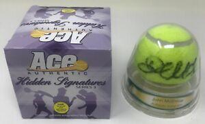 JOHN MCENROE Signed ACE authentic Hidden Signatures Dunlap TENNIS BALL Wimbledon