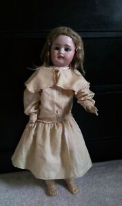 """Beautiful 24"""" Simon and Halbig 1078 Bisque & Composition Doll 11 1/2"""