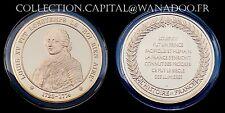 """Médaille Louis XV le """"Roi Bien Aimé"""" Argent recouvert d'Or"""