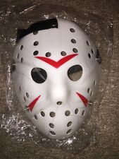 Freddy Krueger vs Jason Voorhees Mask Friday 13th Prop Hockey Halloween White 54