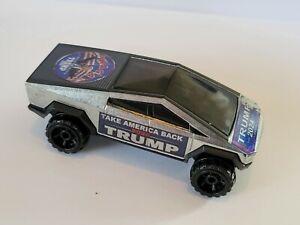 Hot Wheels Donald  TRUMP take AMERICA Back in 2024 TESLA CYBERTRUCK custom