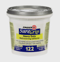 Zinsser SureGrip 122 Heavy Duty WALLCOVERING ADHESIVE Wallpaper Paste 1 Qt 69384