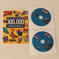Art Explosion 300,000 Clip Art Images CD-ROM PC Computer Software Program