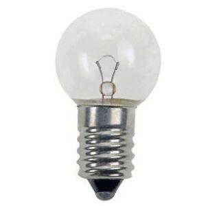 3.6V 0.9W 250MA E10 Light Bulb 17mm X 30mm (Pack of 5)