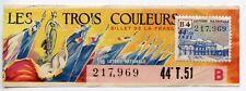 BILLET DE LOTERIE NATIONALE / LES TROIS COULEURS 1951