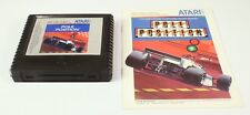 Atari 5200 Game Pole Position With Instructions Tested & Working