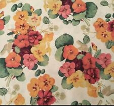 "1 yd 20"" From the Garden Edelin Wille Marcus Brothers Violet Floral Flower Cream"