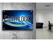 "Acrylic Custom Sign Size 24"" x 36"" Full Color Your Logo or Message Outdoor Sign"