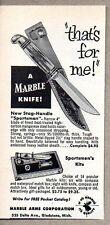 1955 Print Ad Marble Stag Handle Sportsman Knife Knives Gladstone,MI