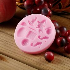 Halloween Party Silicone Mold Cake Fondant Decorating Tools Hat Pumpkin Witch LN