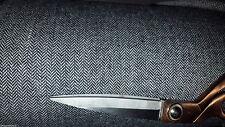 3mts  ITALIAN grey herringbone tweed FABRIC 150 cm wide