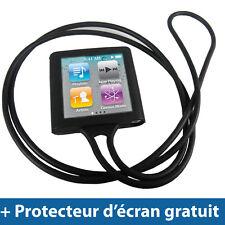 Noir Silicone Etui Chaine pour Apple iPod Nano 6th Gen 6G Housse Coque Case