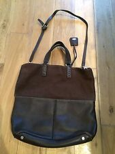 Tods Tod's Brown Suede Nubuck Leather Large Bag Shoulder Strap Cross Body Pocket