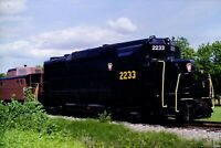 Original Slide Pennsylvania Railroad PRR 2233 GP-30 Lewisburg, PA 1988