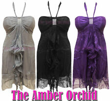 Chiffon Patternless Dresses for Women