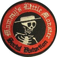 "SOCIAL DISTORTION AUFBÜGLER / EMBROIDERY PATCH # 5 ""MOMMY'S LITTLE MONSTER"" 8cm"