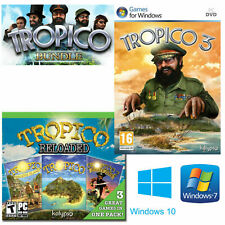 Tropico TRILOGY: 1 2 3 Paradise Island Pirate Cove (Windows 7 |Windows 10) *NEW*